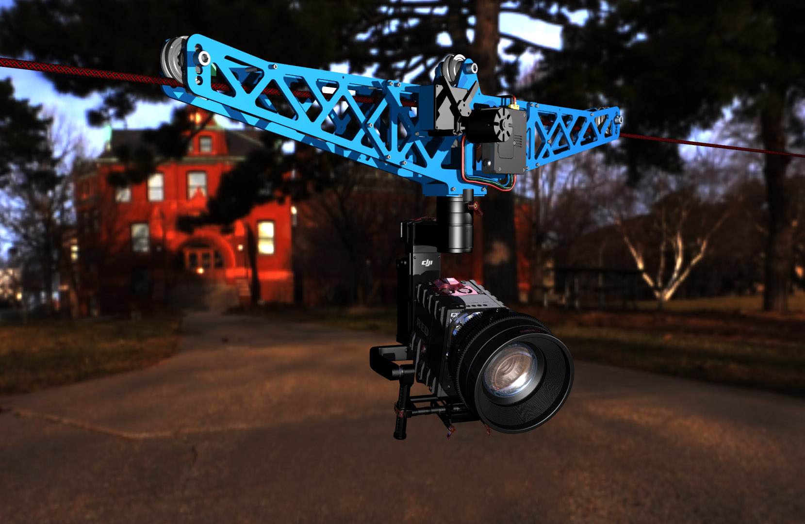 CableCam rendering